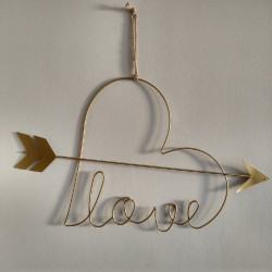 Metalen Wanddecoratie Love...