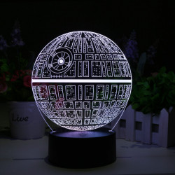 Star Wars Death Star 3D LED...