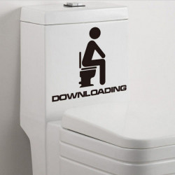 Toilet sticker - Downloading