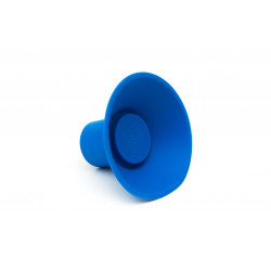 Portable blue icon speaker...